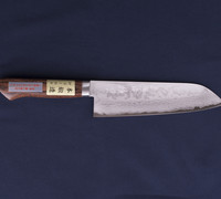 Santoku/All Purpose Kitchen Knife Damascus VG1 with Mahogany Handle 14401M